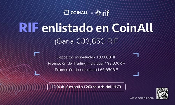 CoinAll cotiza Tokens de Contratos Inteligentes de la Platform RSK