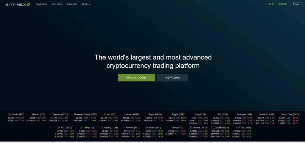pagina web de bitfinex