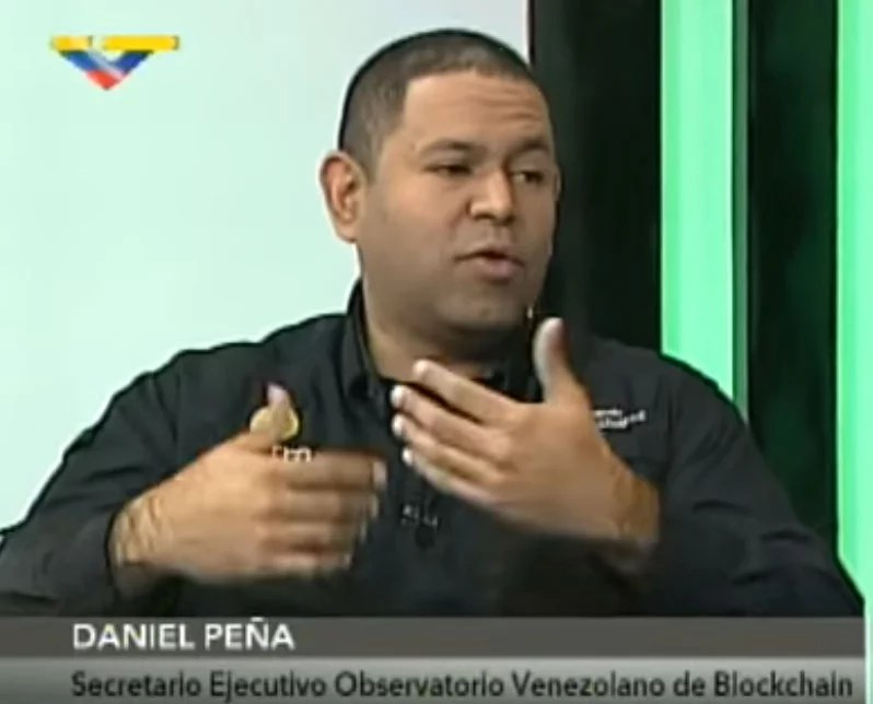 Observatorio Venezolano de Blockchain, Daniel Peña