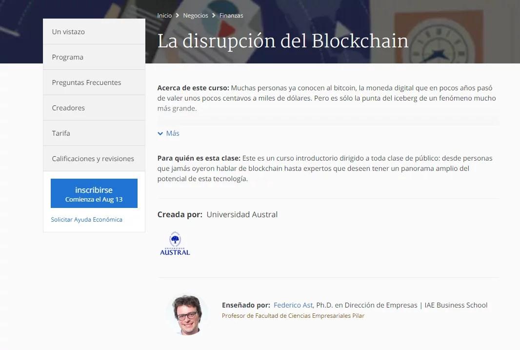curso gratis sobre blockchain