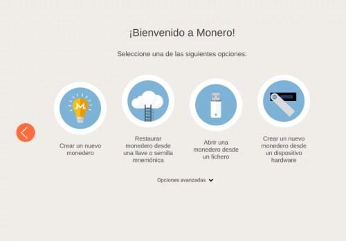 Crear una wallet Monero es nuestra primera opción.