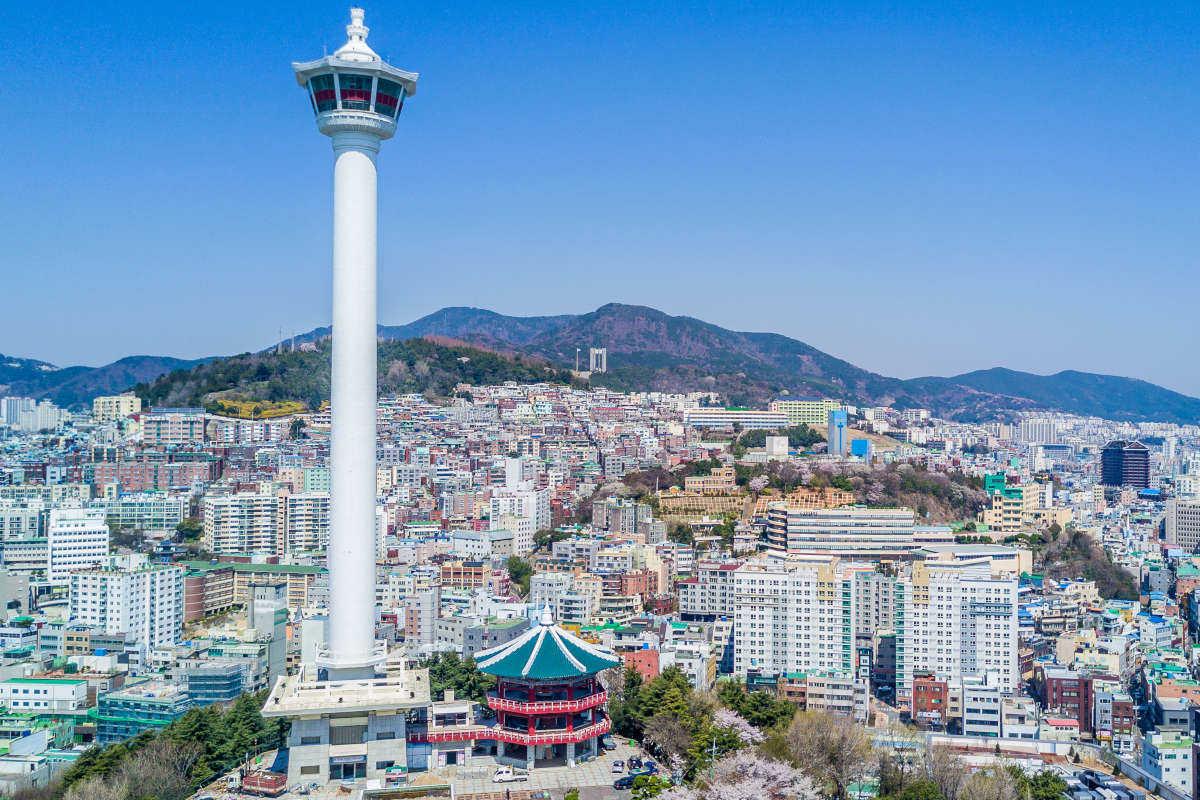Busan en Corea del Sur zona de desarrollo blockchain, Busan una vista aerea de la ciudad blockchain de Corea del Sur