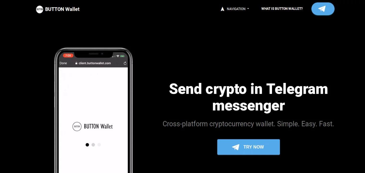 BUTTON Wallet habilita transacciones de pruebas sobre Telegram Open Network