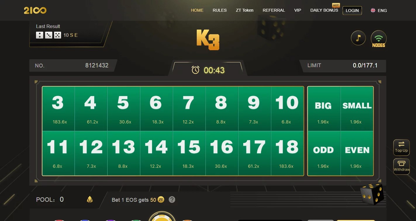 Sitio web de la plataforma de crypto gambling 2100.bet
