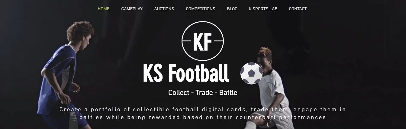 Portada de la página oficial de KS Football