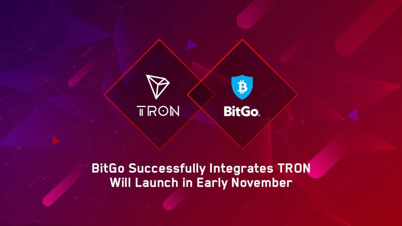 BitGo ofrece custodia para tokens TRON