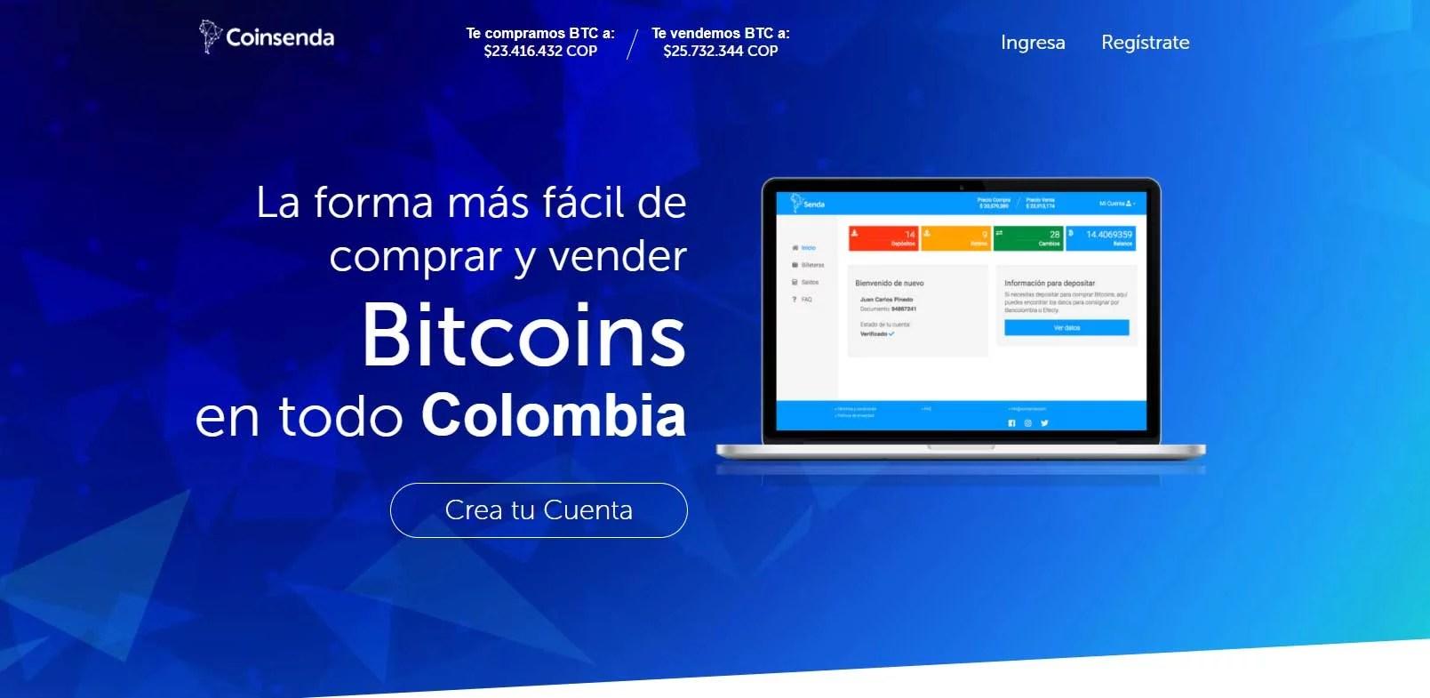 Coinsenda para comprar btc en colombia