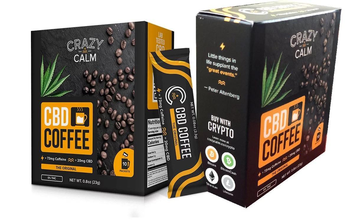 Crazy Calm un producto con derivado de Cannabis que usa las criptomonedas para ayudar y vender