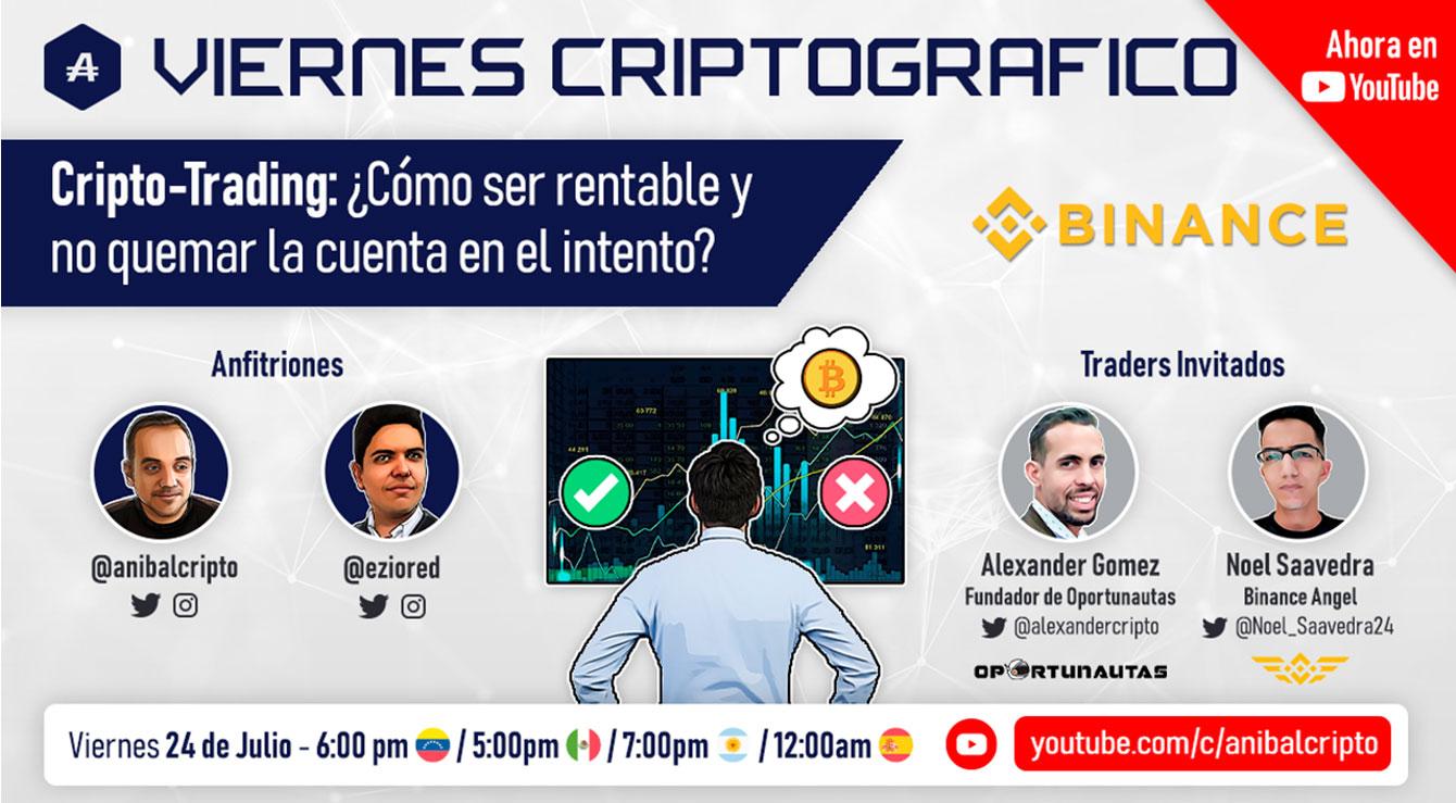 Viernes Criptográfico dedicado para el trading de criptomonedas