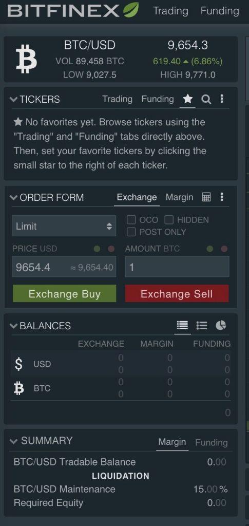 Bitfinex Aprire Trade