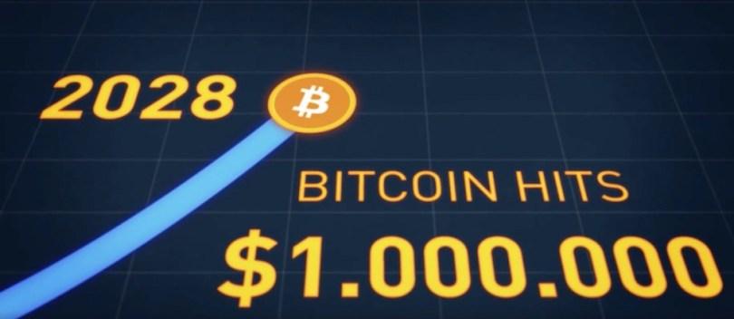 2028 il Bitcoin raggiunge quota 1 milione di dollari