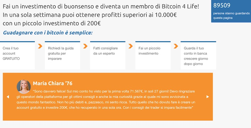 Bitcoin For Life Opinioni e Recensioni