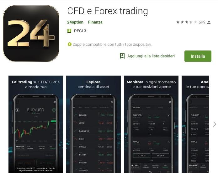 Piattaforma di Trading Mobile Ios Android