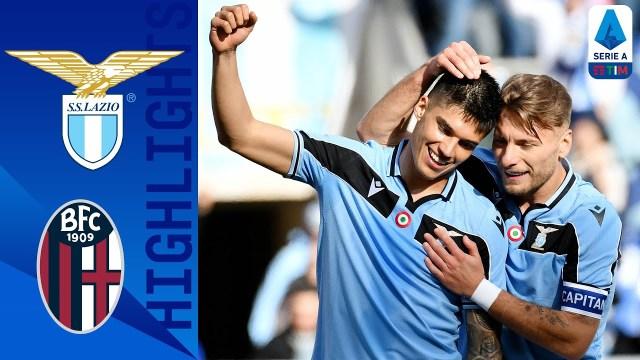 La Lazio conquista il primato in classifica. Bologna battuto 2 reti a zero