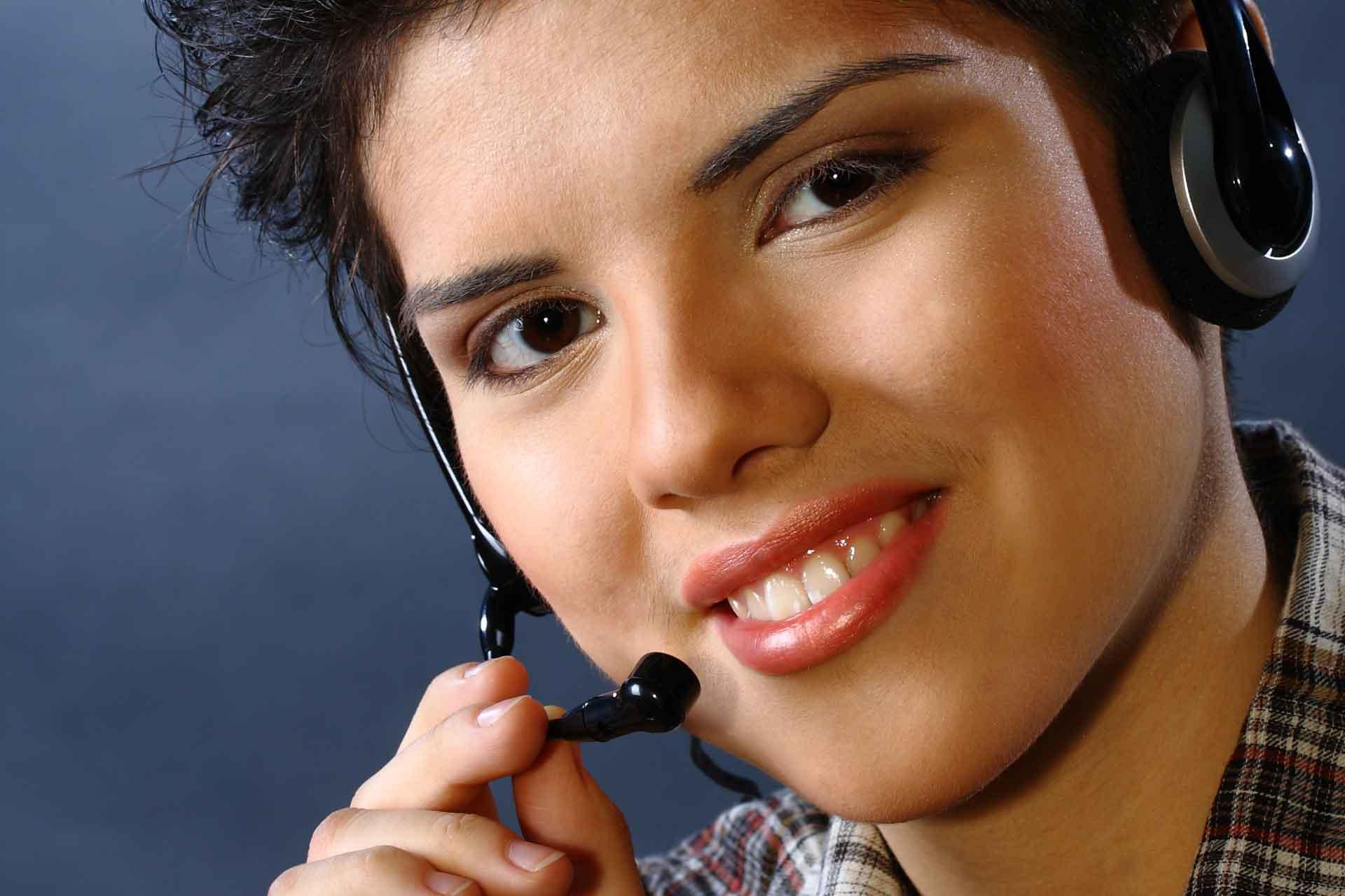 Teen Link Phone Worker
