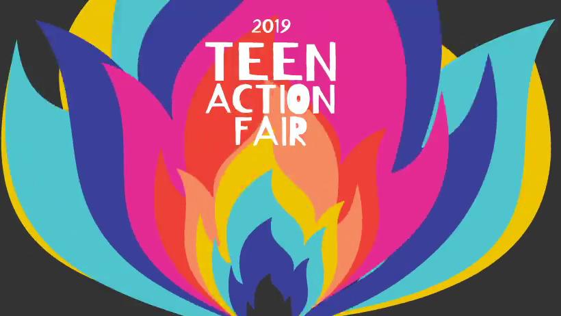 2019 teen action fair banner