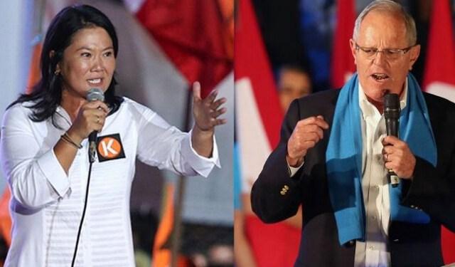 Η απερχόμενη πρόεδρος Fujimori και ο νικητής των εκλογών Pedro Pablo Kuczynski