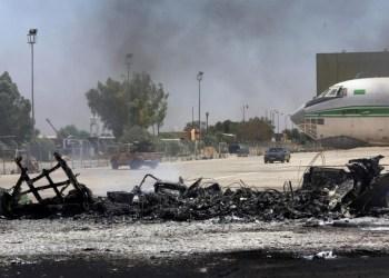 Βομβάρδισαν το αεροδρόμιο της Τρίπολης 30
