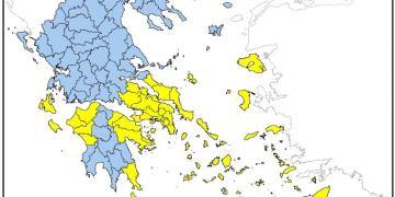 Πολιτική Προστασία: Που είναι υψηλός ο κίνδυνος πυρκαγιάς την Τρίτη 27/7 1