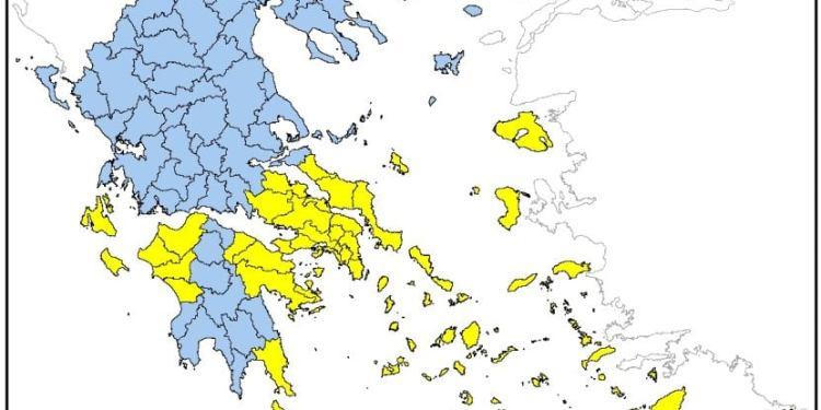 Πολιτική Προστασία: Που είναι υψηλός ο κίνδυνος πυρκαγιάς την Τρίτη 27/7 24