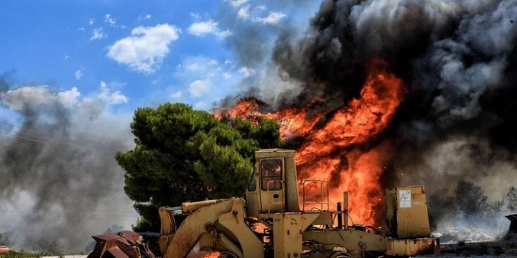 Πυρκαγιές σε Κεχριές και Πεταλίδι – Ενεργοποιήσεις του προγνωστικού συστήματος IRIS 24