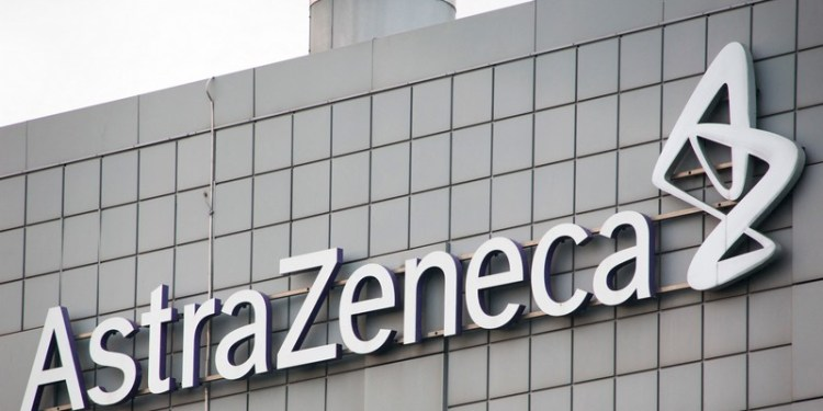 astrazeneca building and logo