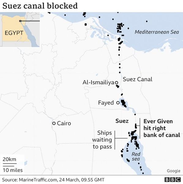 Τί συμβαίνει στο Σουέζ και πως επηρεάζει