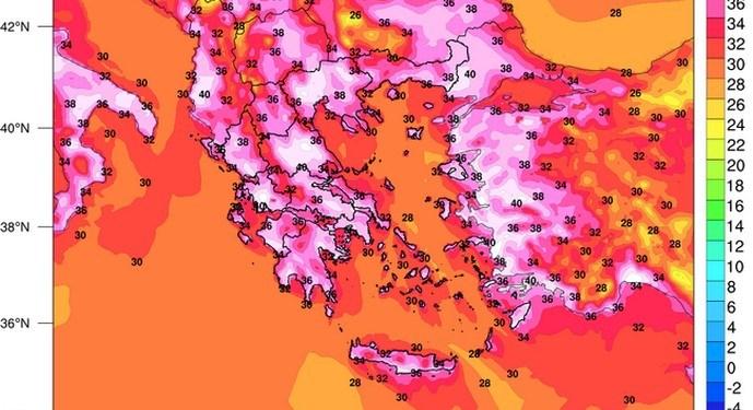 Καύσωνας: Μέγιστες θερμοκρασίες