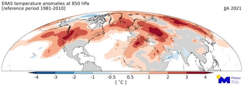 Αξιολογώντας τις θερμοκρασιακές αποκλίσεις του καλοκαιριού 2021