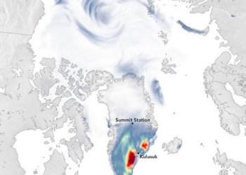 "NASA: Ασυνήθιστη χιονόπτωση στη Γροιλανδία μετά τον Τυφώνα ""Larry"""