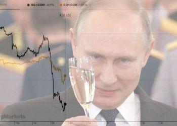 Sell-off σε πετρέλαιο και φυσικό αέριο... ελέω Πούτιν