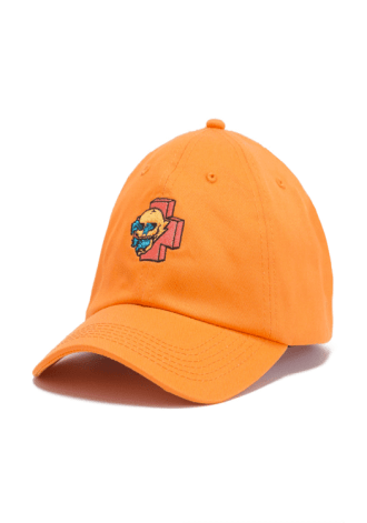 PINK DOLPHIN Wave Skull Strapback