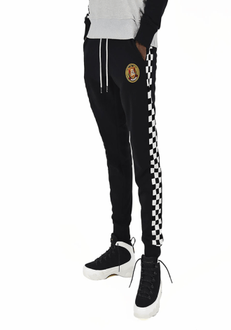 ALUMNUS - Men Checkered Joggers