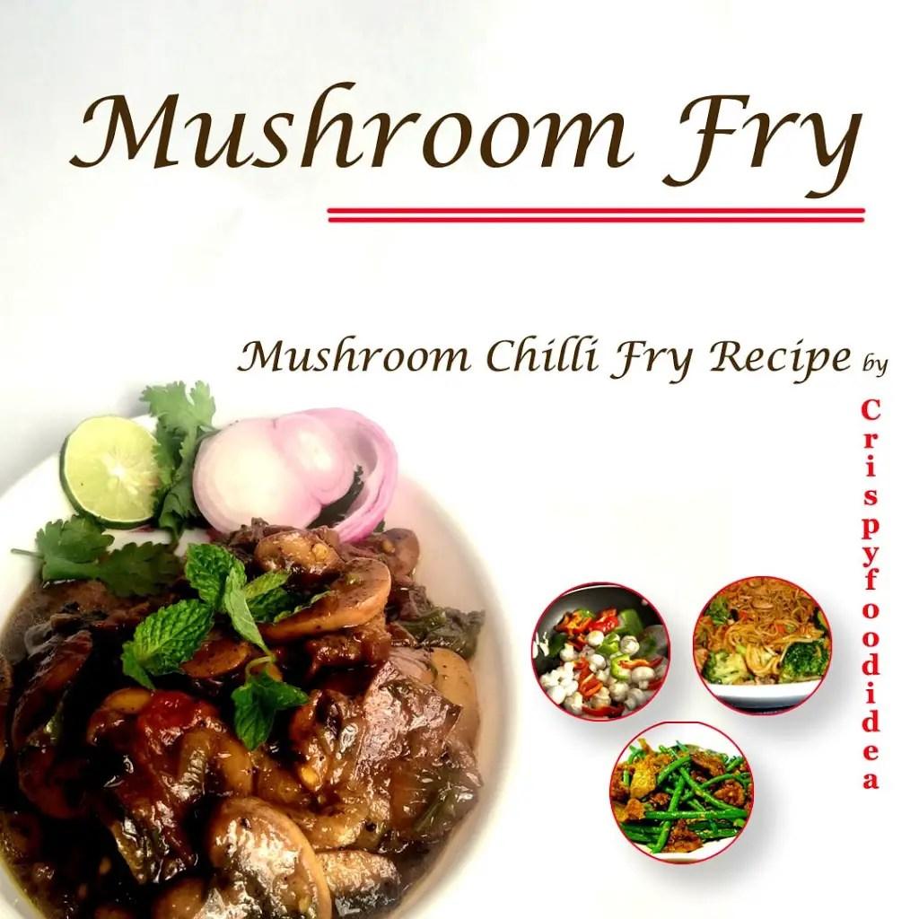 Mushroom Fry Recipe | Easy Mushroom Dry Recipes in Home