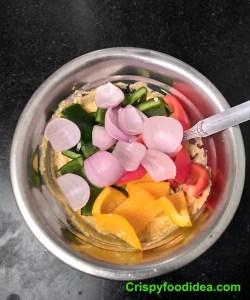 Add veggies to the yogurt mixture