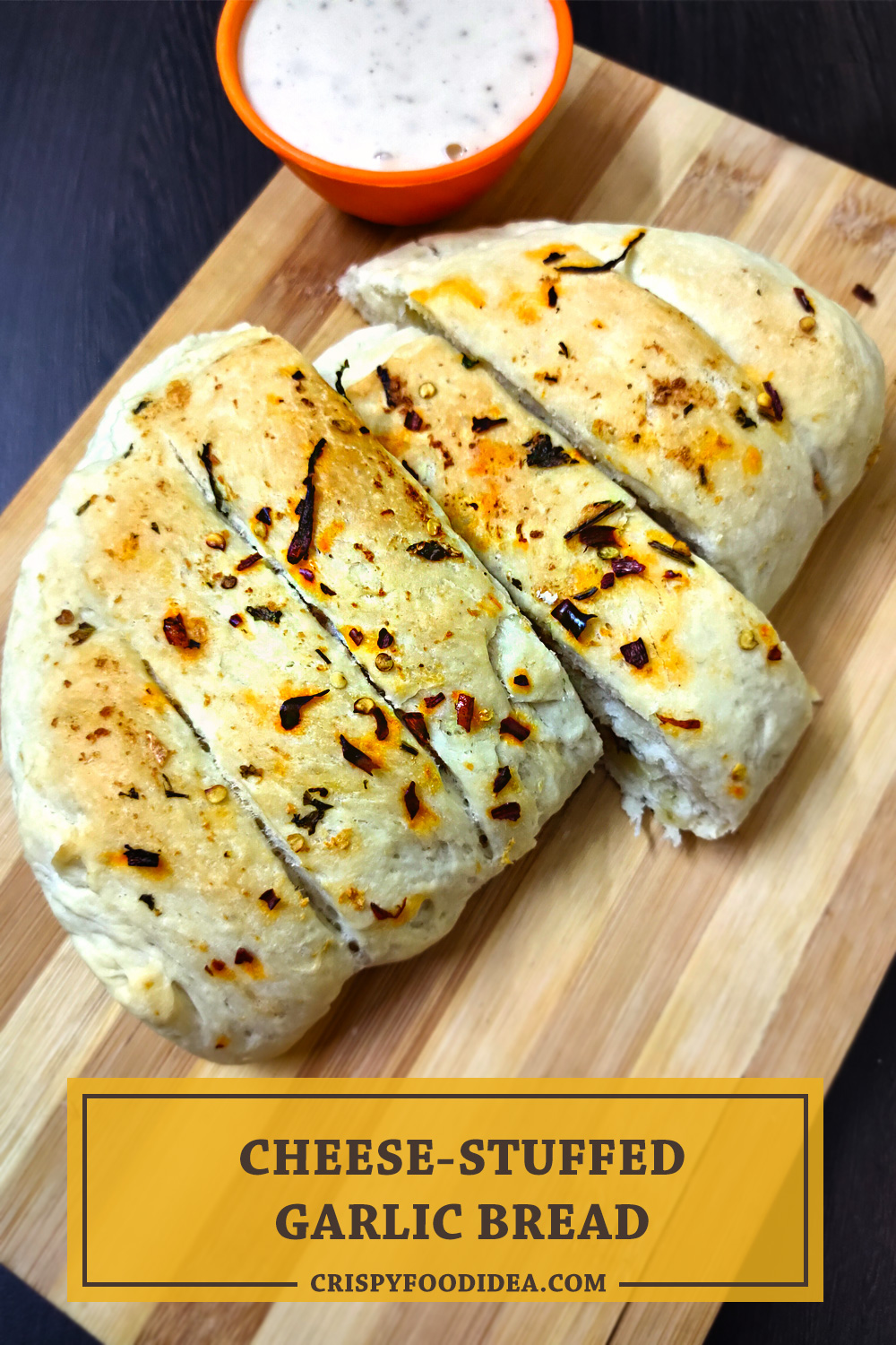 Cheese Stuffed Garlic Bread