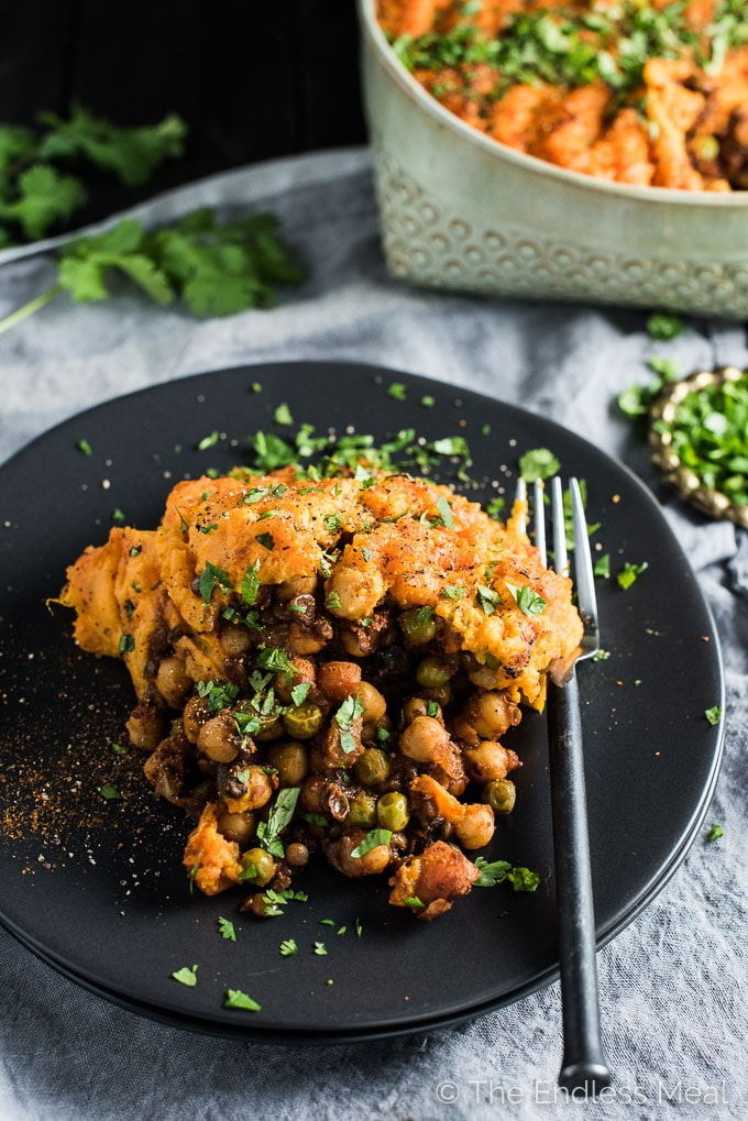 Shepherd's Pie with Sweet Potato Topping