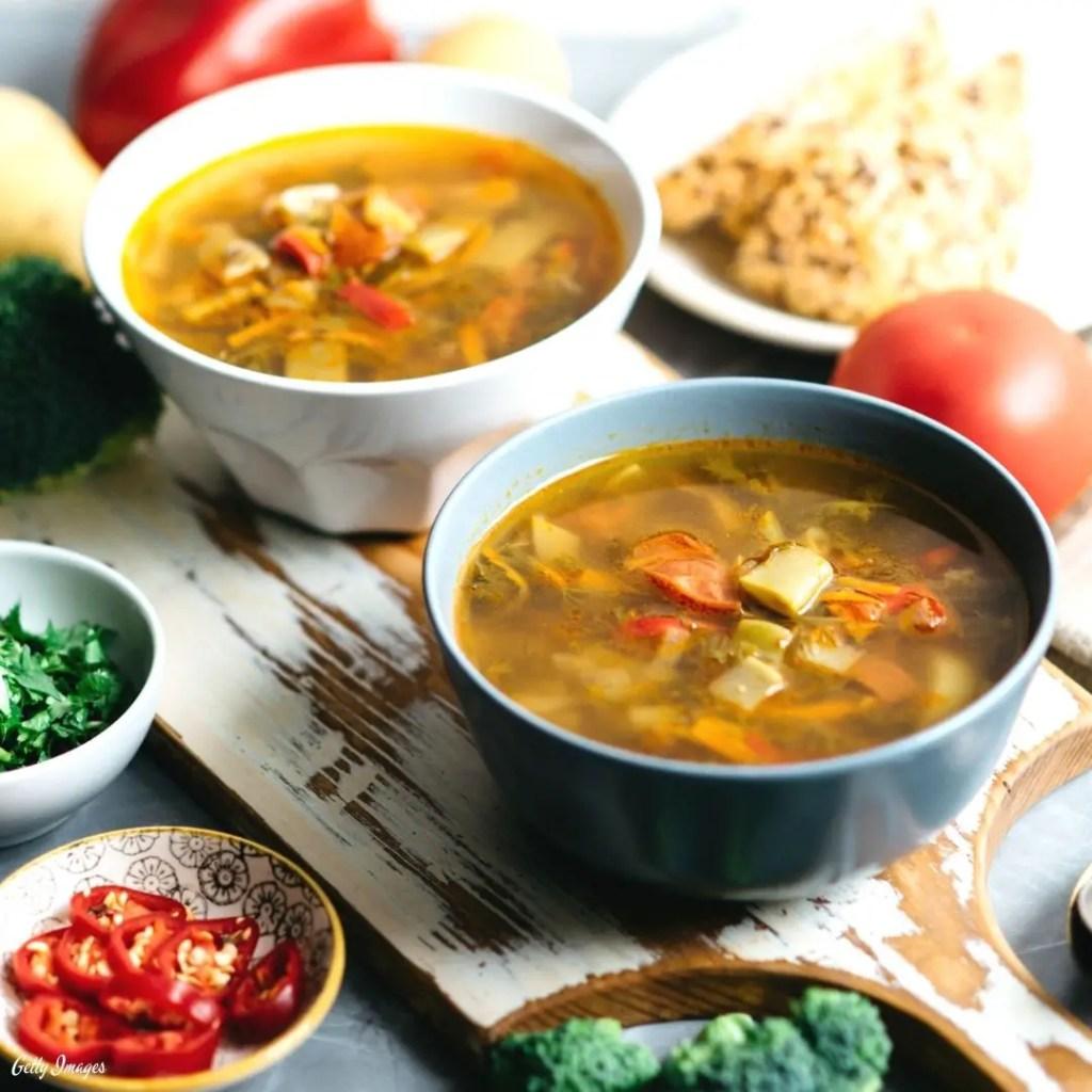 Low Carb Low Calorie Keto Vegetable Soup