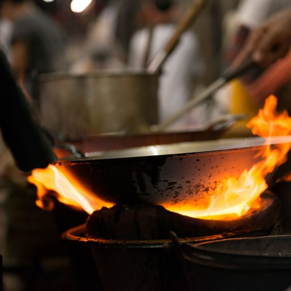Learn to cook on higher flames