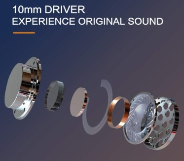 features a 10mm driver