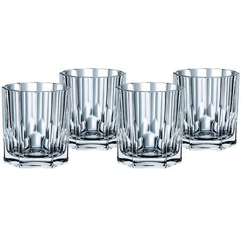 verres a whisky en cristal collection aspen coffret de 4