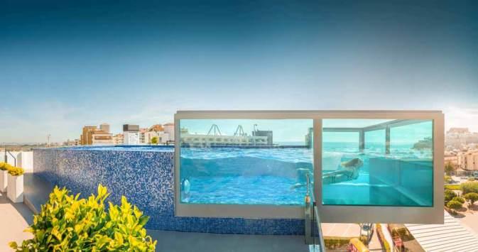 vidrio para piscina - Piscina de Cristal NH Don Carlos
