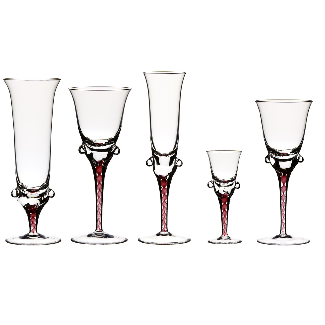Beer Glass Beer Tulip With Red Stem Clear Glass 330ml