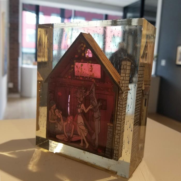 Jessica Korderas, figurative, mixed media, sculpture, contemporary art, Vancouver, Elissa Cristall Gallery