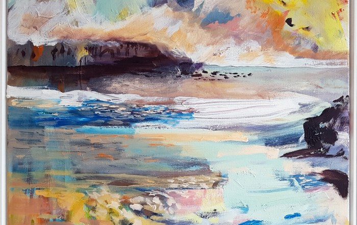 Lesley Finlayson, landscape painting, contemporary art, scottish painter, Vancouver, Elissa Cristall Gallery