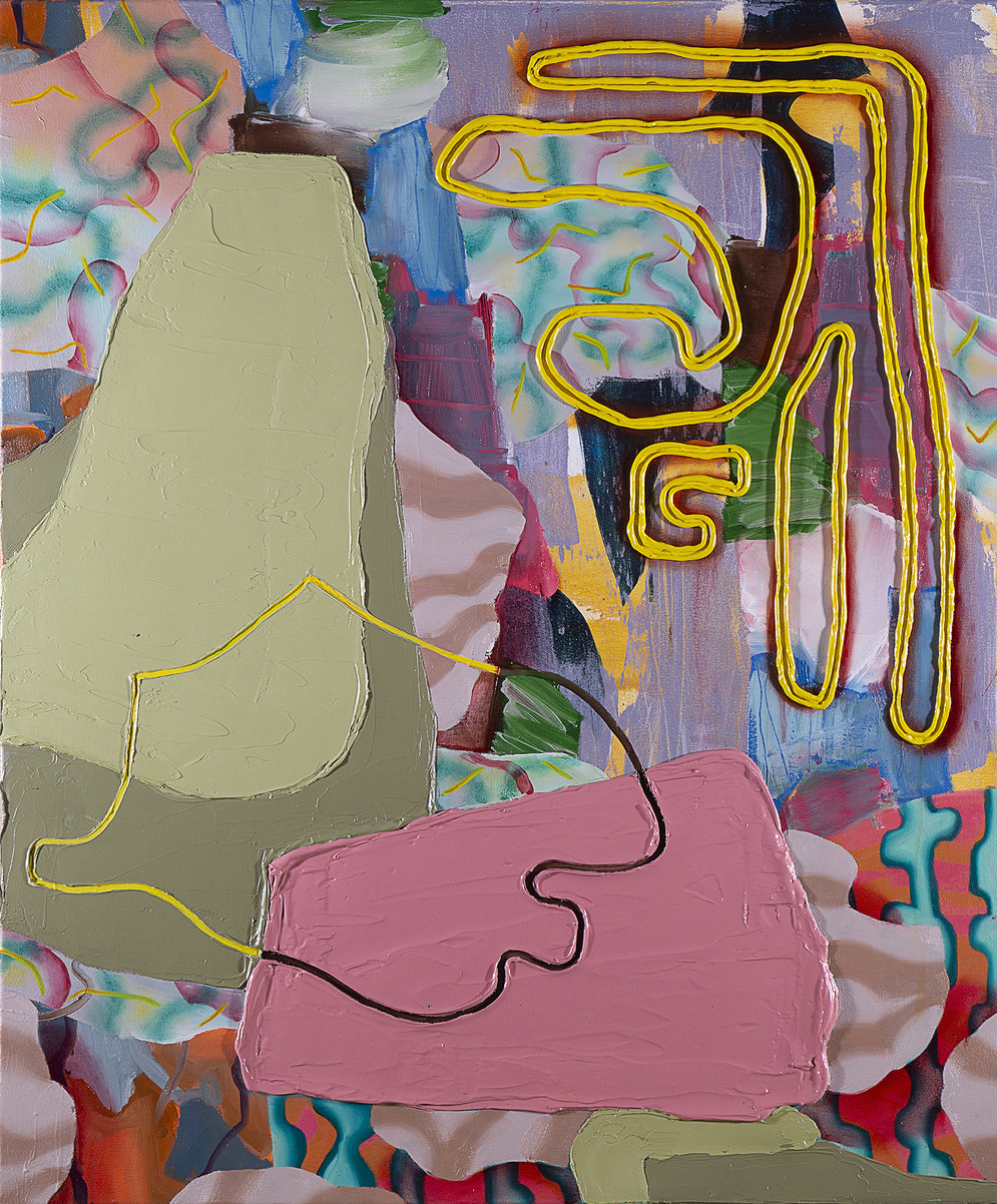 Wei Li, hybrid identity, contemporary painting, abstract painting, Vancouver, Elissa Cristall Gallery