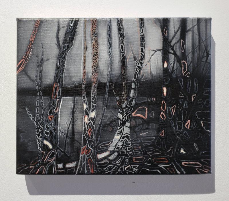 Jeroen Witvliet, Lake Patterns 3, oil on panel, Elissa Cristall Gallery