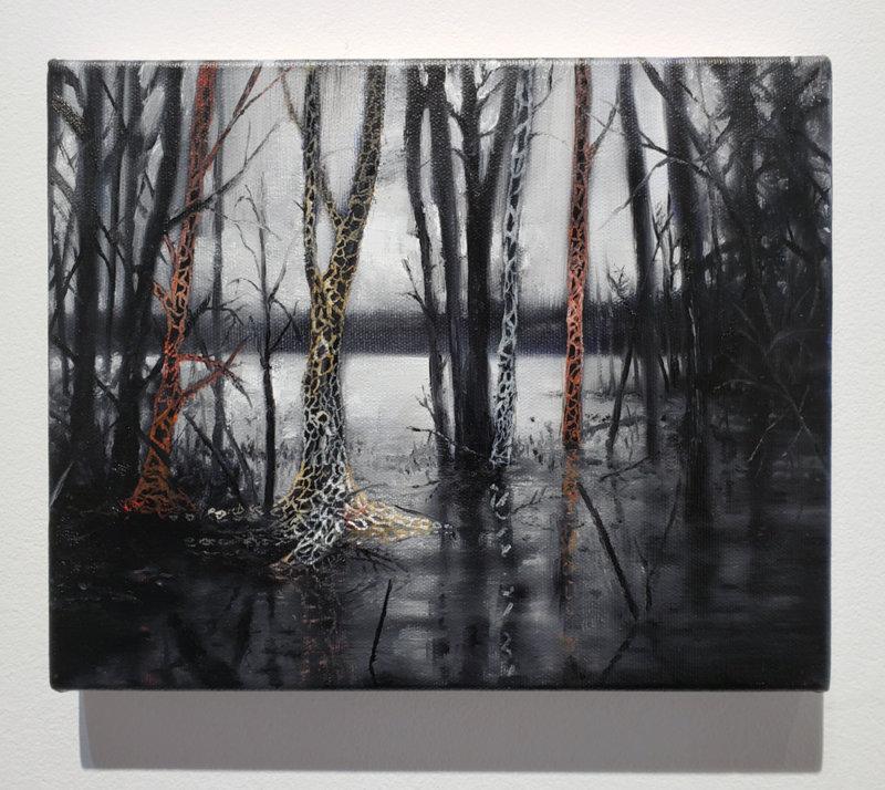 Jeroen Witvliet, Lake Patterns 4, oil on panel, Elissa Cristall Gallery