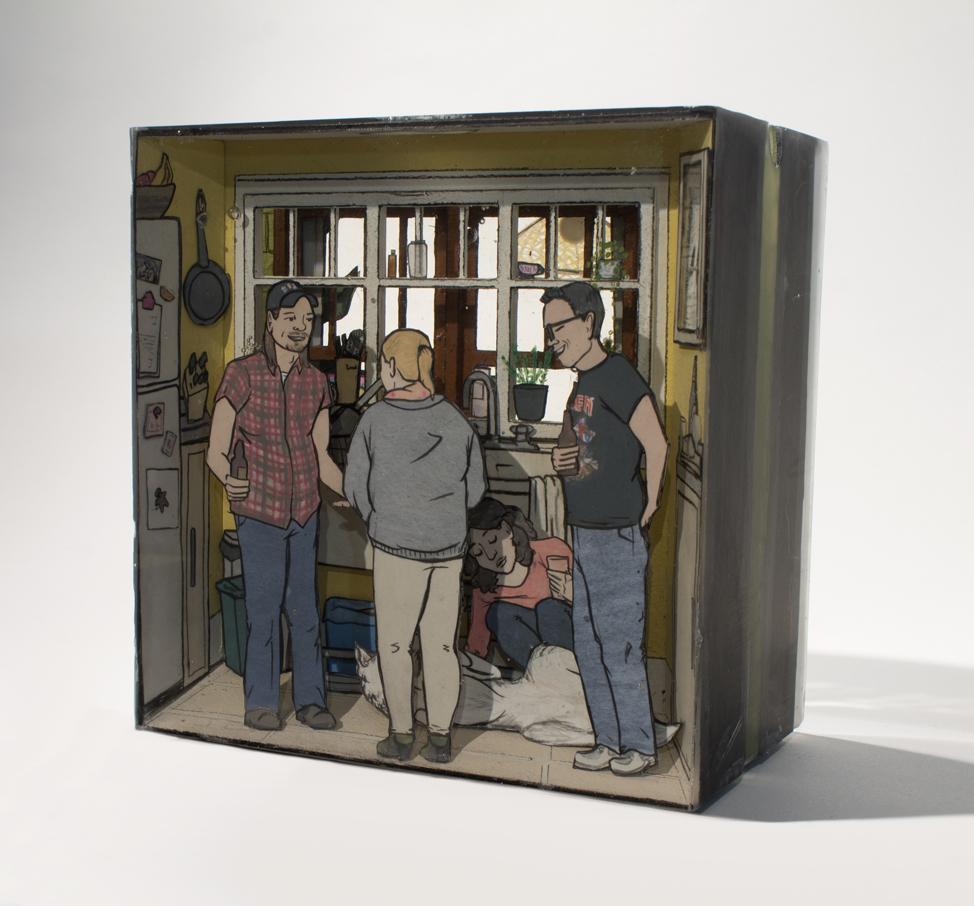 Jessica-Korderas-Thursday-Night-resin-sculpture-contemporary-art-Elissa-Cristall-Gallery