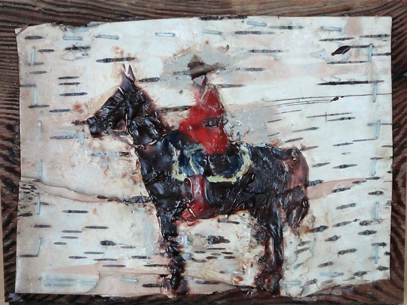 """Bruce Turnbull, Northern Security, encaustic on birch, 9"""" x 7"""""""